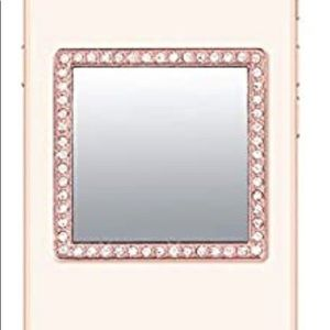 IDecoz Rose Gold W/Crystals Phone Mirror